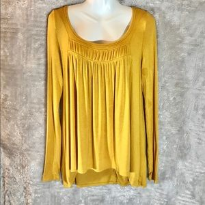 Free People NWOT Love Valley Dark Yellow Top, Sml